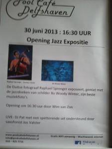 30 juni 2013, Opening juli Jazz maand bij Poolcafé Delfshaven